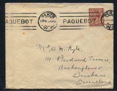 AUSTRALIA MARITIME GREAT BRITAIN USED ABROAD PERTH PAQUEBOT 1933 ABERDEEN - Postmark Collection