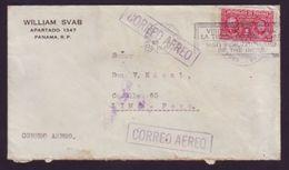 PANAMA 1940 BOQUETE AIRMAIL TO PERU - Panama