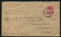 NORTHERN RHODESIA GEORGE SIXTH RARE POSTMARK MWINILUNGA 1944 - Great Britain (former Colonies & Protectorates)