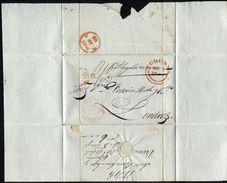 GREAT BRITAIN SPAIN GALICIA BRITISH POST OFFICE CORUNNA 1846 - 1840-1901 (Victoria)