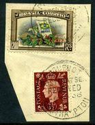 GB KGV1/BRAZIL COMBINATION PAQUEBOT SOUTHAMPTON - 1902-1951 (Kings)