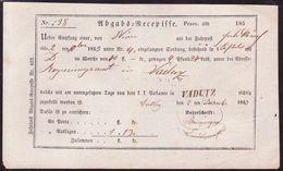 LIECHTENSTEIN/RAILWAYS/PARCELS 1853 - Liechtenstein