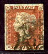 GB LINE ENGRAVED 1841 1d RED-BROWN IVORY HEAD - 1840-1901 (Victoria)