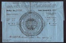 GB/QV/SHREWSBURY INSURANCE DOC PRINTED STATIONERY - Old Paper
