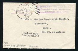 DOMINICAN REPUBLIC PUERTO RICO 1937 USA DIPLOMATIC MAIL PAQUEBOT - Dominican Republic