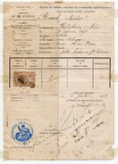 FRANCE REVENUE STAMP AND DOCUMENT ROVEN 1889 - Europe (Other)