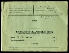 GB POST OFFICE STOCK AND SALES OF DOG AND GAME LICENCES 1987/91 - Unclassified