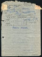 CHINA MANCHURIA RUSSIAN P.O. MANCHOULI TELEGRAM 1926 - Unclassified