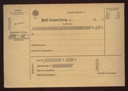 AUSTRIA 1900 LOCAL PARCEL CARD SPECIMEN OVERPRINT - Austria