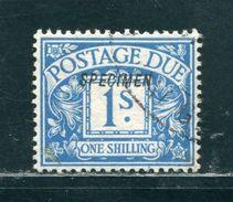 GB POSTAGE DUE GEORGE FIFTH SPECIMEN GABON 1915 - Postage Due