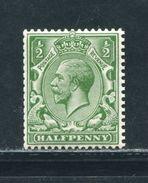 GB GEORGE 5TH 1913 ROYAL CYPHER 1/2d - 1902-1951 (Kings)