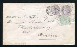 GB QUEEN VICTORIA INLAND REVENUE STAMPS POSTAL FISCALS TO GERMANY - 1840-1901 (Victoria)