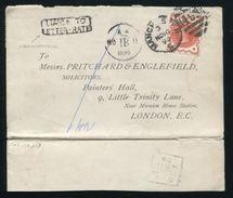 GB MANCHESTER VICTORIA POSTAGE DUE COVER 1890 - 1840-1901 (Victoria)
