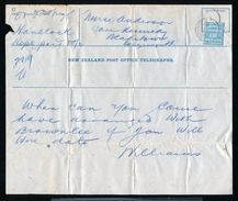 NEW ZELAND STATIONERY GREYMOUTH TELEGRAPH FORM AND STAMP 1913 - Unclassified