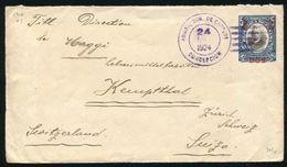 PANAMA POSTAL STATIONERY AROSEMENA CONCEPCION OVERPRINT AMERICAN BANKNOTE 1924 - Panama