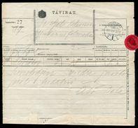 HUNGARY POSTAL STATONERY TELEGRAM KOLOSVAR 1911 - Hungary