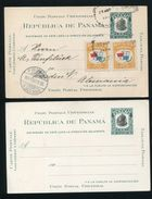 PANAMA STATIONERY COMBINATION BALBOA FLAG AMERICAN BANK NOTE COMPANY 1908 - Panama