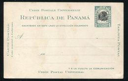 PANAMA CANAL ZONE OVERPRINT POSTAL STATIONERY BALBOA 1910 RARE - Panama