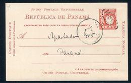 PANAMA POSTAL STATIONERY BIRD 1929 NATIONAL ARMS EAGLE B0.02 - Panama