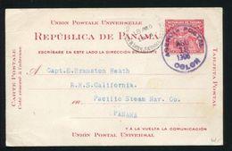 PANAMA STATIONERY MARITIME RMS CALIFORNIA COLON MAP PACIFIC STEAM 1906 - Panama