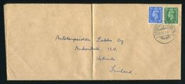 GREAT BRITAIN USED ABROAD GEORGE SIXTH MARITIME POSTAL HISTORY TURKU FINLAND - Postmark Collection