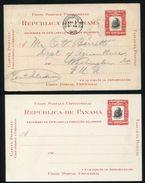 PANAMA POSTAL STATIONERY CARD CORDOBA TABOGA ISLAND AMERICAN BANKNOTE 1908 - Panama