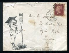 GREAT BRITAIN HAND ILLUSTRATED OXFORD ROWING 1879 - Postmark Collection