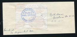 CANADA WORLD WAR TWO FLEET MAIL OFFICE LONDON ENGLAND PROOF STRIKE 1944 - Canada