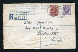 GREAT BRITAIN QUEEN VICTORIA STATIONERY REGISTERED FISHPONDS LATE USAGE BRISTOL - Postmark Collection