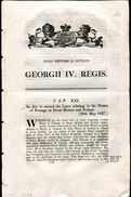 GREAT BRITAIN GEORGE 4th POSTAGE RATES IRELAND 1827 - Great Britain