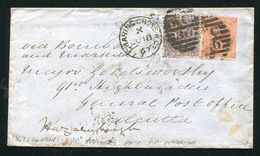 GREAT BRITAIN INDIA 1867 OFFICERS RATE CALCUTTA MILITARY - Postmark Collection