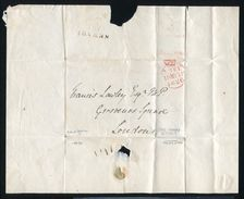 GREAT BRITAIN FREE FRANK TURNED LETTER NEWARK NOTTS LAWLEY M.P 1826 - Postmark Collection