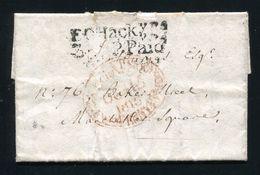 GREAT BRITAIN MILITARY FRANCE SECRET REFUGEE HACKNEY NAPOLEON LONDON WAR 1816 - Postmark Collection