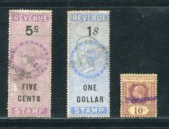 MALAYA STRAITS SETTLEMENTS REVENUES 1874 DE LA RUE - Great Britain (former Colonies & Protectorates)