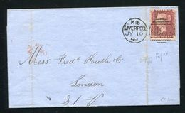 GREAT BRITAIN LONDON MACHINE CANCELS  1859 RIDEOUT VICTORIA - Postmark Collection