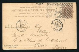 GREAT BRITAIN VICTORIA LONDON MACHINE CANCELS RARE HOSTER 1885 - Postmark Collection