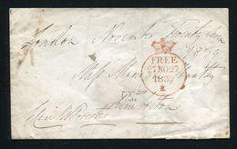 GREAT BRITAIN FREE FRANK LONDON KIMBOLTON 1839 - Postmark Collection