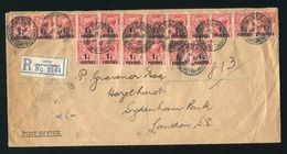GREAT BRITAIN OVERPRINTS BRITISH LEVANT OFFICIAL TURKEY CONSTANTINOPLE 1921 - Postmark Collection