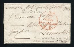 GREAT BRITAIN FREE FRANK 1800 LONDON TO LANCASTER CHARING CROSS - Postmark Collection