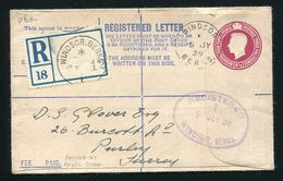 GREAT BRITAIN FREE ROYALTY WINDSOR REGISTERED ROYAL SHOW GEORGE 6TH VISIT - Postmark Collection