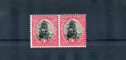SOUTH AFRICAN GEORGE FIFTH SHIP DARMSTADT TRIAL HORIZONTAL PAIR DIX 67 - South Africa (...-1961)