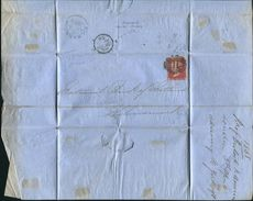 GREAT BRITAIN LONDON RIDEOUT MACHINE CANCEL KILMARNOCK SCOTLAND 1858 - Postmark Collection