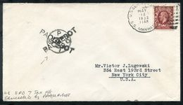 GREAT BRITAIN USED ABROAD USA TAX MARITIME PAQUEBOT 1935 - Postmark Collection