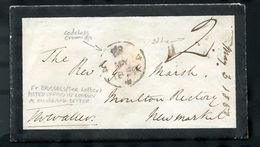 GREAT BRITAIN BELGIUM 1850 POSTAGE DUE FASCINATING BROTHEL LETTER - Postmark Collection