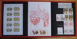 MONACO PRESENTATION FOLDER IMPERFORATE PROOFS EURO COINS SHEETLET 2002 - Monaco