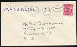 US POSSESSIONS AMERICAN SAMOA SWAINS ISLAND TOKELAU 1931 FLAG USS CHICAGO - Postal History