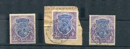INDIA USED ABROAD PERSIA KING GEORGE FIFTH 1922/1923 - India (...-1947)