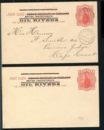 NIGER COAST GREAT BRITAIN OVERPRINT OIL RIVERS STATIONERY 1893 - Niger (1960-...)