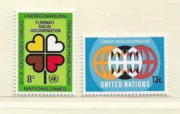 NATIONS UNIS - NEW YORK  ( D18 - 4417 )   1971   N° YVERT ET TELLIER  N° 213/214   N** - New York -  VN Hauptquartier