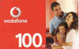 Egypt Vodafone 100 LE Recharge Phonecard, Used - Egypte